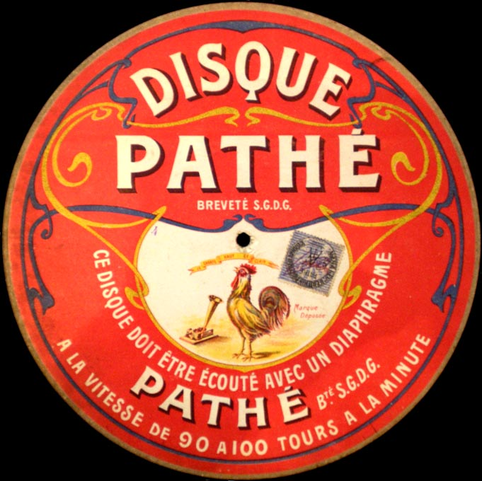 8. pathe disque saphir 90 100 tours 1905 cement wax combinatie 1